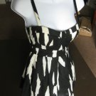 Black and white corset bustier top blouse EXTRA SMALL XS