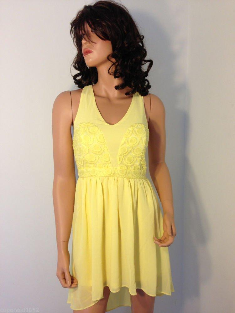 YELLOW maxi mini long asos high low maxi asymmetrical dress SMALL