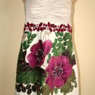 Free People anthropologie floral velour embroidered mini dress XS 2  EXTRA SMALL
