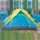 4-Person Outdoor Camping Folding Tent Blue Yellow HLY-Z4018