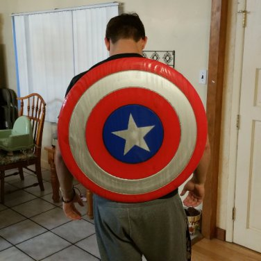 Captain America Shield Wooden Replica With Adjustable Straps