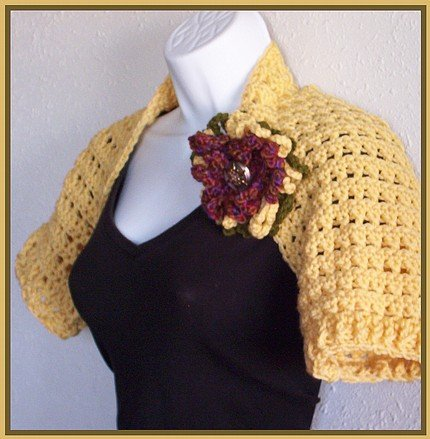 Crochet Shrug - Fields of Gold