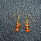 Brown stone earrings