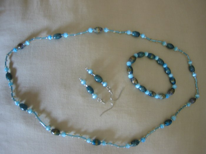 Gorgeous blue-green bead set
