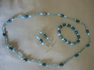 Gorgeous blue-green bead set