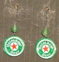 Recycled Hinekin bottle caps