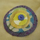 Recycled fabric sample circle pin