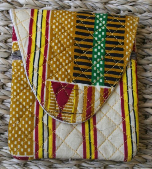 African Cloth Square Pouch