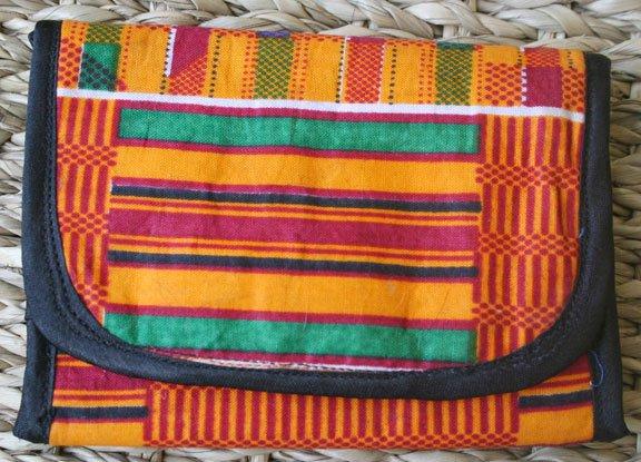 African Cloth Tri-fold Wallet