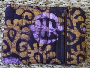 African Cloth Zip Purse