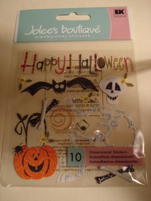 Jolee's Boutique Happy Halloween Dimensional Stickers Holiday