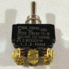 NEW NOBOX-CARLING 10A 250 VAC 15A 125 VAC 3/4HP 125-250 0521 1,2,3 -Phase Switch