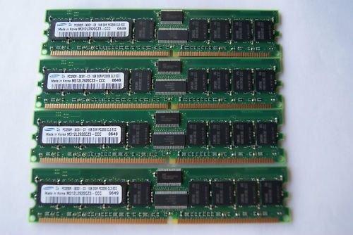 SAMSUNG 4GB (4x 1GB) PC3200R CL3 DDR400 RAM ECC REG 184