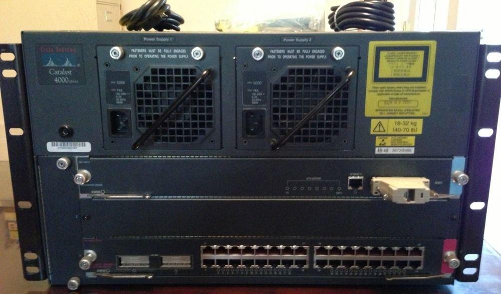 Cisco Catalyst 4000 w/ WS-X4012, WS-X4232-GB-RJ - FREE SHIPPING