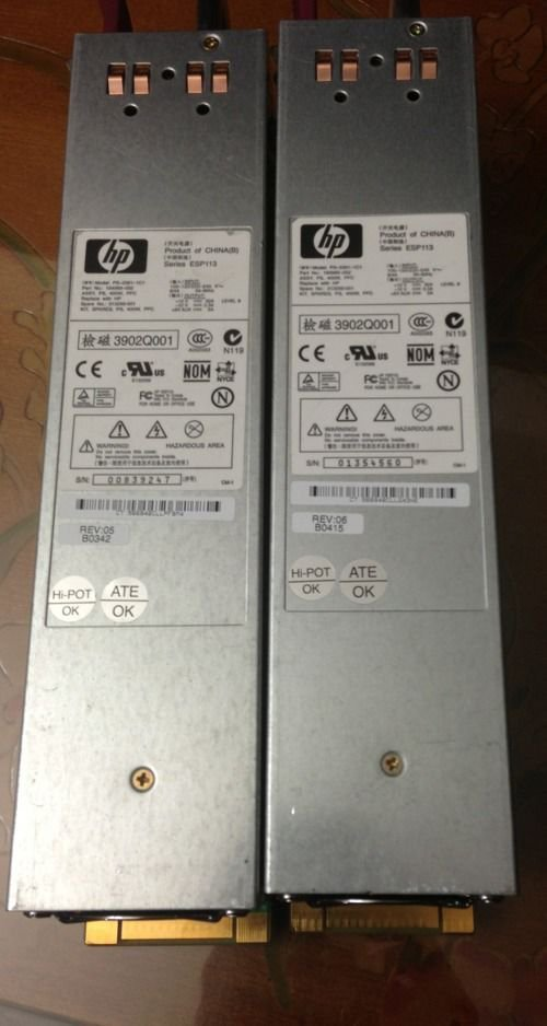 Pair of HP ESP113 POWER SUPPLY 400W for HP Proliant DL380 G3