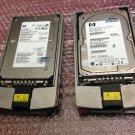 """Lot of 2 x HP BF07285A36 286774-006 9U8006-038 72.8 GB 15K RMP SCSI 3.5"""" HDD"""