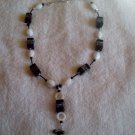 Handmade Black & White Blocks Necklace