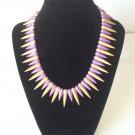 Lane Violet Gold Metal  Spike Necklace