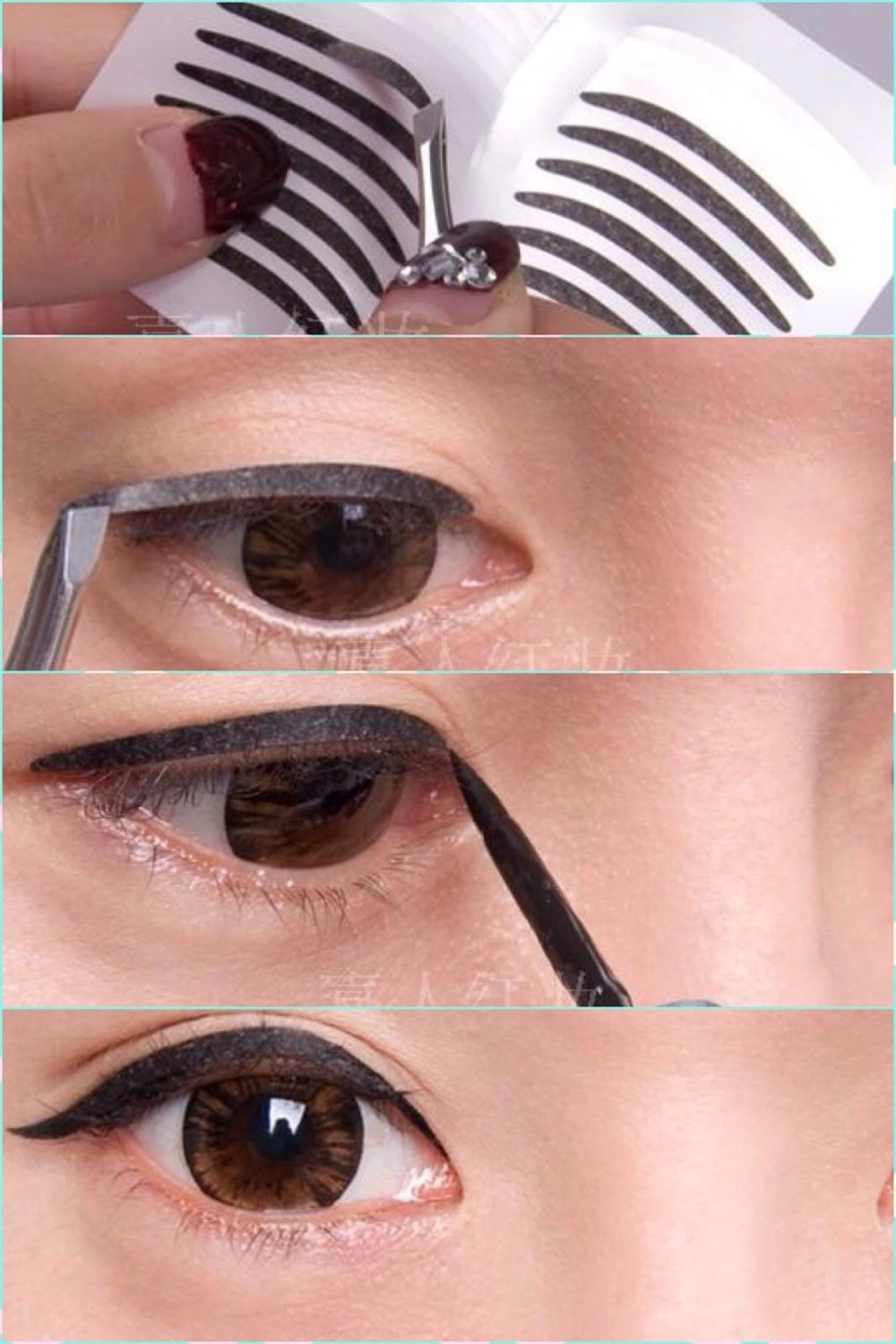168 Pairs Wide/Narrow Double Eyelid Sticker Tape Technical Eye TapeS TRANSPARENT