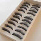 3 Boxes (30 Pairs ) Natural Black Long Handmade False Eyelashes