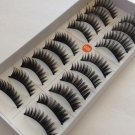 30 Pairs Natural Black Long Handmade False Eyelashes 3 Boxes #026