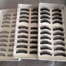 30 Pairs Natural Black Long False Eyelashes Makeup Eye Lash 3 Boxes