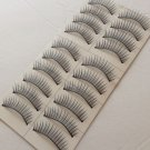 10 Pairs FALSE EYELASHES BLACK THICK LONG NATURAL  HAND MADE#009.