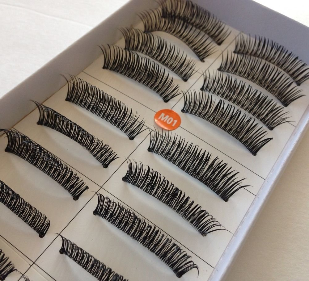 Lot Of 5 Boxes Stylish (50 PAIRS ) Cross designTHICK LONG FALSE EYELASHES #M01