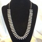 Black Tone Brass  Black Pearl  Statement Necklace