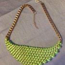 Women Fashion Knitting metel Statement Necklace golden necklace collar