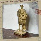 SCOT Kinder Surprise Metal Soldier Figurine Vintage Toy 4 cm Gold Finish