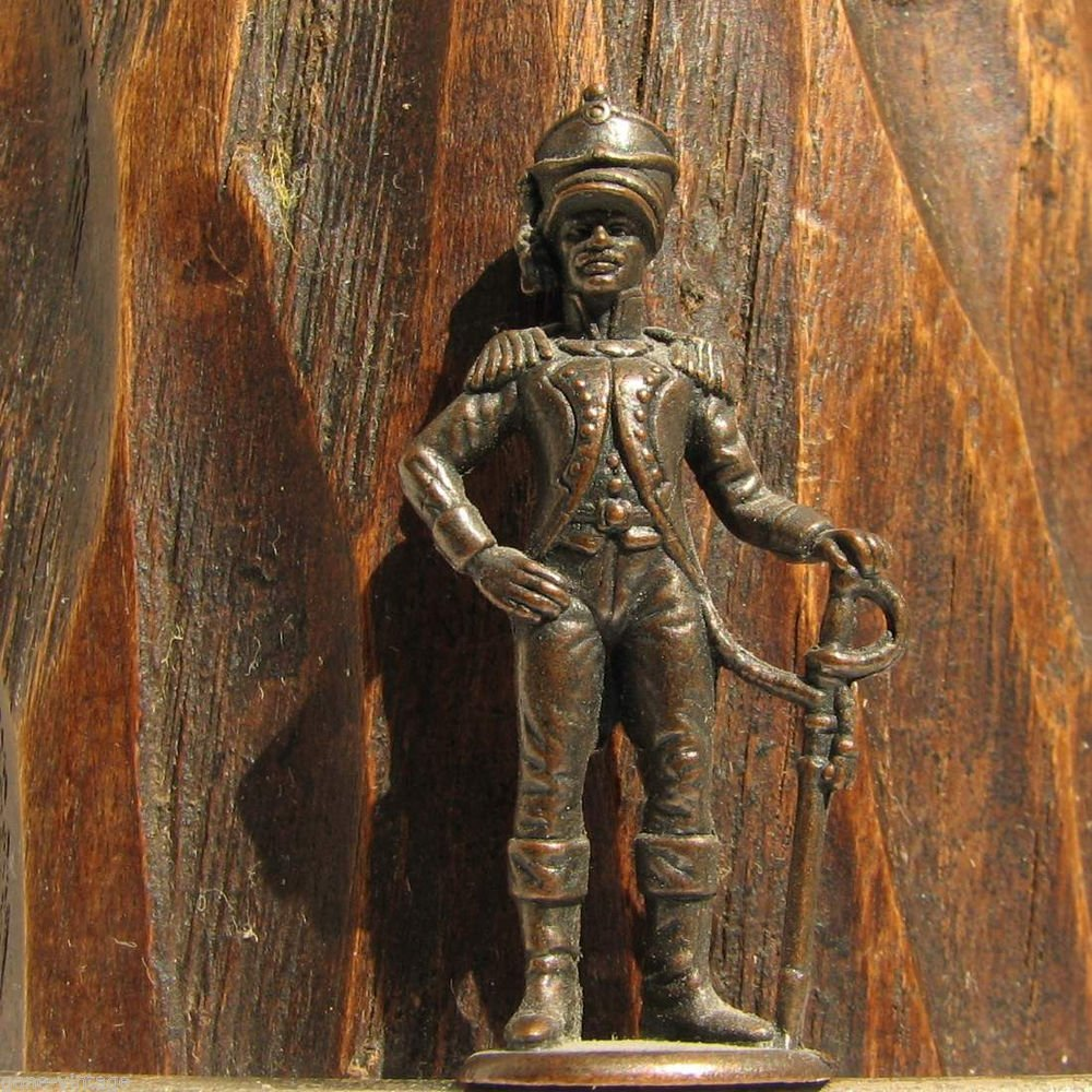 Prussian Army Officer #2 Kinder Surprise Metal Soldier Figurine Vintage Toy 4 cm