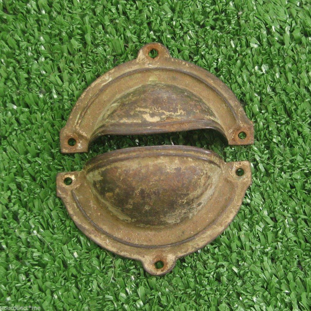 Vintage Brass Emergency Lamp Shade 2 Parts semi Sphere Nice Deco