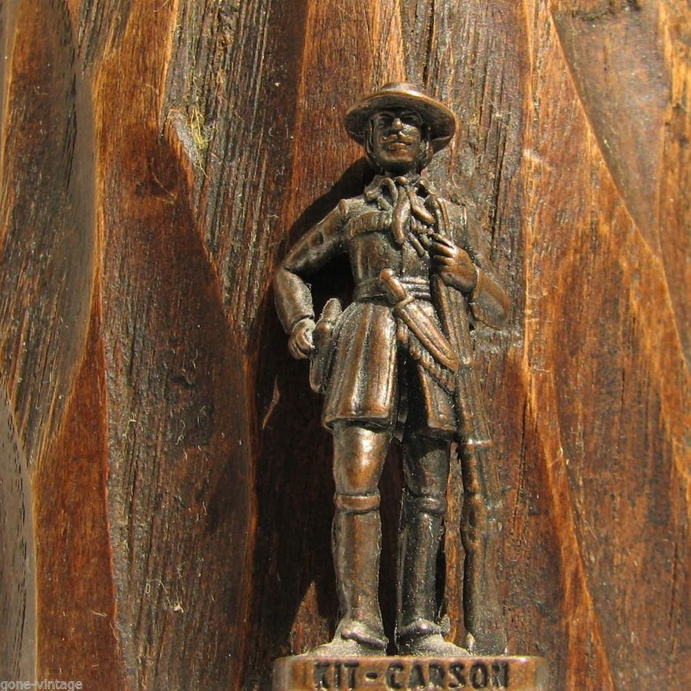 Kit Karson Kinder Surprise Metal Soldier Figurine Vintage Toy 4 cm Wild West