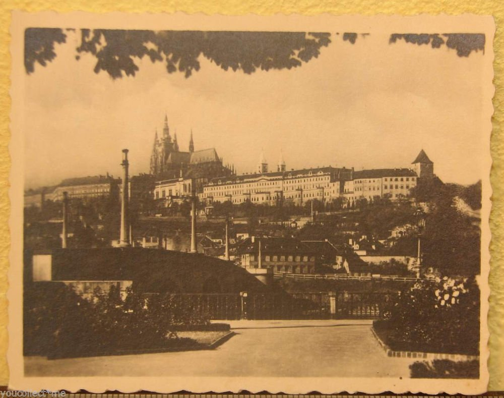 Praha Hradcany Vintage Photograph Tourist Suvenir B&W Photo Prague Hradschin #2