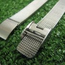 Vintage Women's Wristwatch Band Bracelet Mesh Stamped 100% Stainless Steel