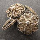 Unique Vintage Antique Piece of Jewelry Silver Men Cufflinks Cuff Links Filigree