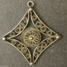 ONE OF A KIND UNIQUE ANTIQUE HANDMADE SILVER PENDANT Filigree Wire