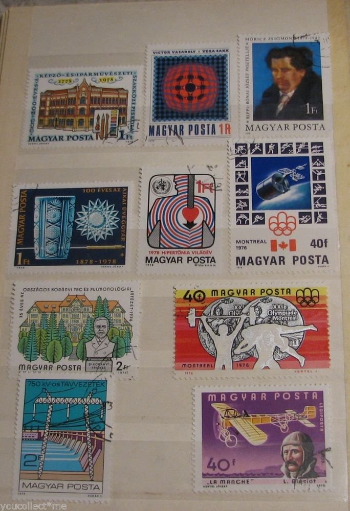 Vintage Hungary Maguar Post Postage Stamps Mixed Lot Set