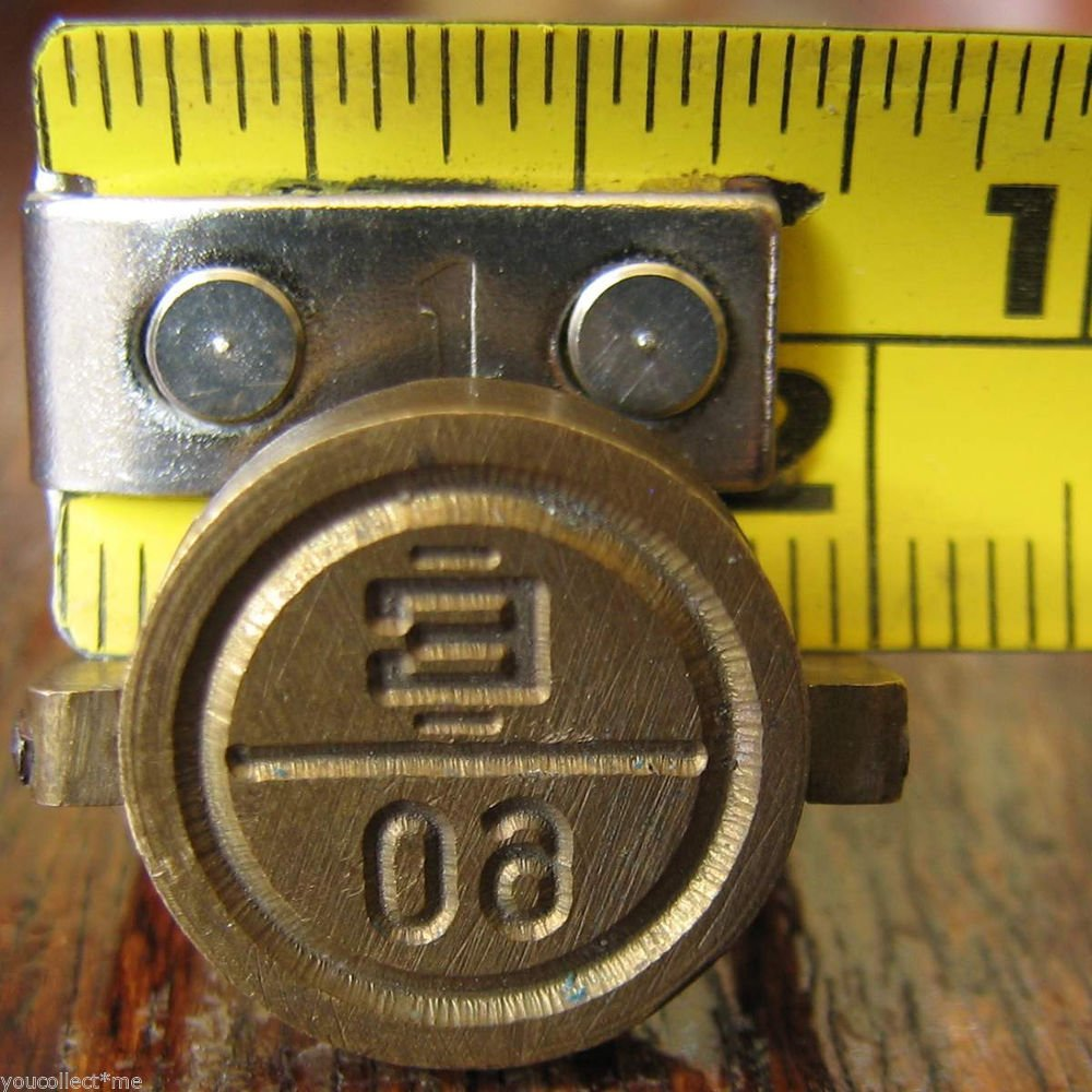 """vintage brass seal military staff secure doors vehicle load storage rooms """"E 60"""""""