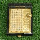 Vintage Pocket Flip Rolodex Sliding Address Phone Book Bead  Made in USA MINT