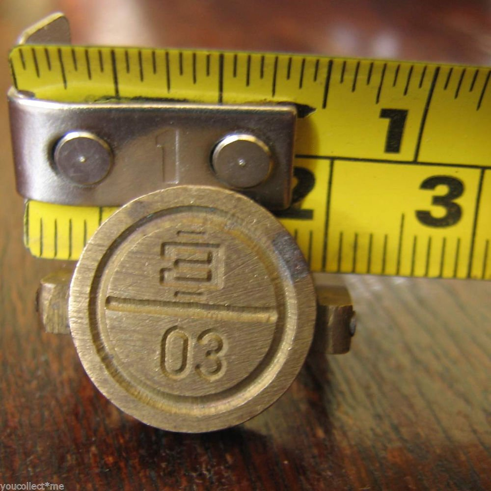 """vintage brass seal military staff secure doors vehicle load storage rooms """"E 30"""""""