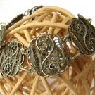 Vintage Bracelet Sterling Silver Filigree Hand Made Nice Unique Ladies Jewelry