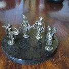 4 CHINA FAIRY TALES SMALL FIGURINES SET LOT 3.5 CM HIGH DETAIL
