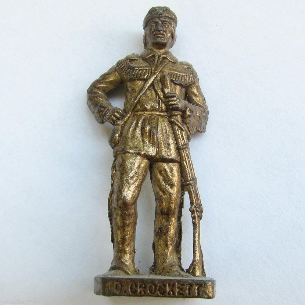 Dave Crocket Brass Kinder Surprise Metal Soldier Figurine Vintage Toy 4cm High