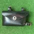 Vintage Bike Bag Bicycle Tools Pouch Black Faux Leather Frame Mount USSR 1970 #7