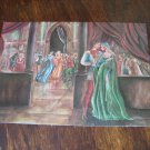 ROMEO & JULIET'S FIRST MEETING VERONA VINTAGE POSTCARD PAINTING MINT ITALY PRINT