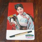 PILOT PEN CO JAPAN CAPLESS FOUNTAIN PEN WALLET CALENDAR 1967 GEISHA SMILE 9x6 cm