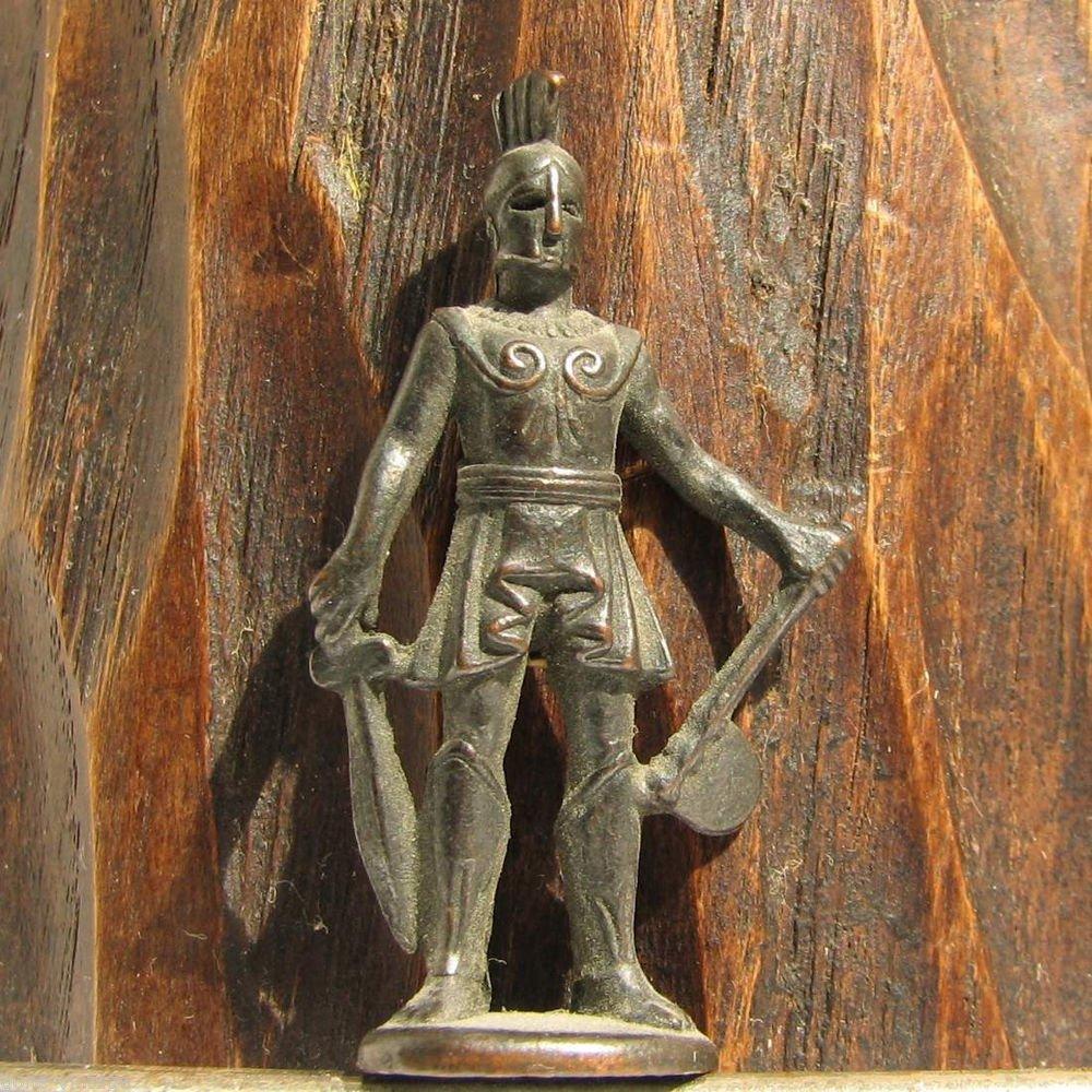 Spartan #3 Kinder Surprise Metal Soldier Figurine Vintage Toy 4 cm Gladiator