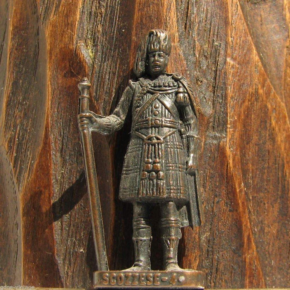 Scozzese-4 Kinder Surprise Metal Soldier Figurine Vintage Toy 4cm RP 1482 Patent